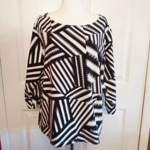 Ruby Rd plus size patterned round neck shirt 2x